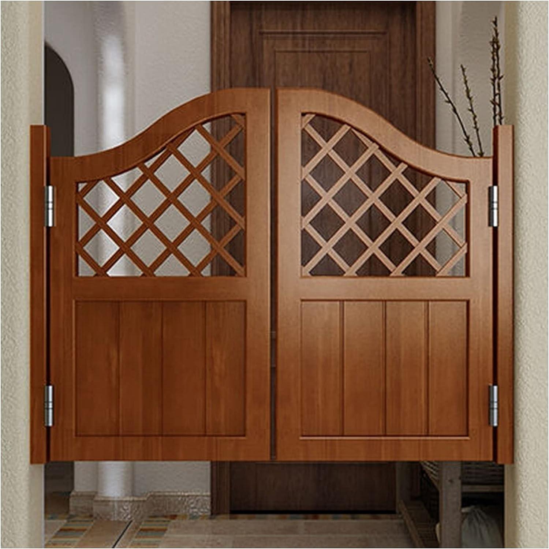 CAIJUN Entrada Puertas Batientes, Madera Maciza Valla Salón Dividir para Interior Terraza Taberna Salón, Bisagras Incluidas Diseño De Cuadrícula, Personalizable (Color : A, Size : 95x90cm)