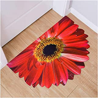 QL Into The Door Mat Before Entering The Door in Addition to Shoes Gray Flower Type Home Carpet Bathroom Home Rubber Bottom Back Anti-Slip Carpet,B,6090CM