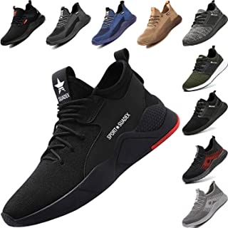 Zapatos de Seguridad con Punta de Acero para Hombre Mujer -