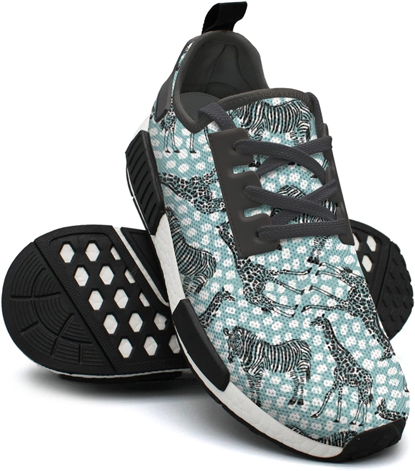 Hand Drawn Zebra Giraffe Casual Sport Womens Running shoes Wide Width NMD