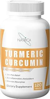 Natrica Turmeric Curcumin with Bioperine 1500mg, 120 Count