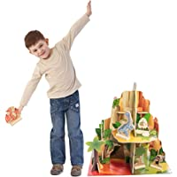 BBI Kids Indoor Multi Level 4 Sided Wooden Adventure Dinosaur Playset