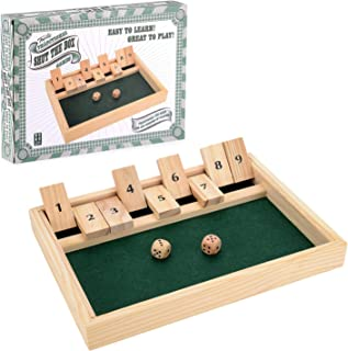 Traditional Wooden Board Dice Pub Family Gift Game Shut The Box