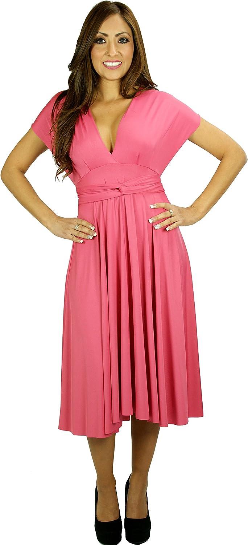 Wrap Magic Women's Convertible Dress Honey Suckle Pink