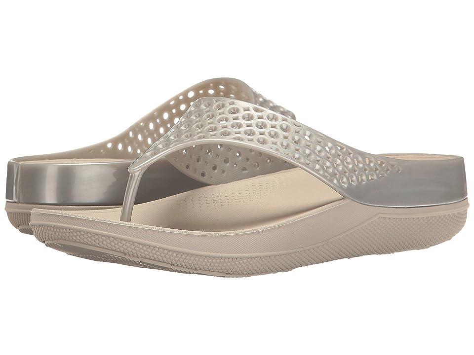 FitFlop Ringer Welljelly Flip-Flop (Silver) Women
