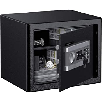 HAPFIY Electronic Digital Security Safe Box for Home Office Hotel (1.0 Cubic Feet)