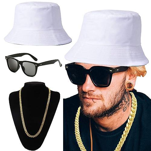 04ce3293953 ZeroShop 80s 90s Hip Hop Costume Kit - Cotton Bucket Hat