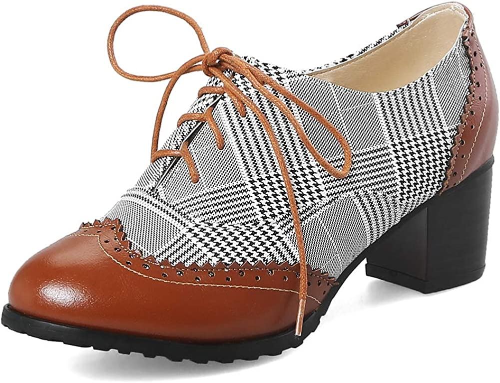 CYNLLIO Women's Vintage Wingtips Lace up Our shop OFFers the best Seasonal Wrap Introduction service Shoes Brogues Oxfords M