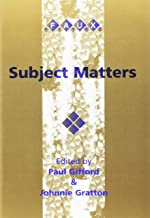 Subject Matters. Subject and Self in French Literature from Descartes to the present. (Faux Titre 184)