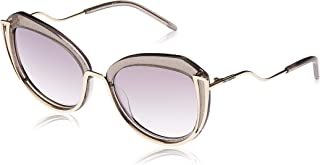 Karl Lagerfeld Women's Oval Gold Metal Sunglasses - KL928S 534 55-19-140mm, Size