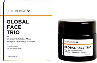 Lina Hanson - All Natural Global Face Trio (Cleanser/Exfoliator/Mask)