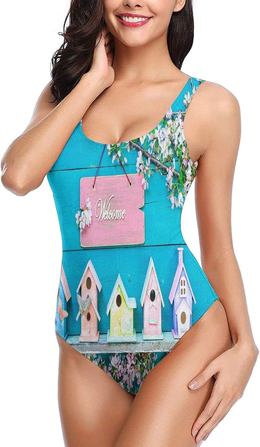 OcuteO One Piece Bathing Suits Sexy Swimsuits Slimming for Women Teen Girls Welcome S