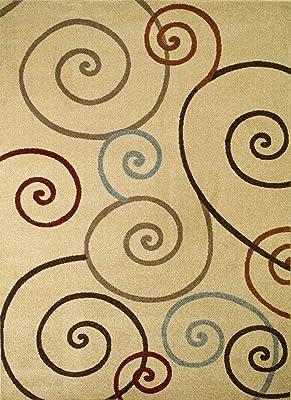 Amazon Com Lavish Home 62 7628c Modern Swirls Area Rug 5