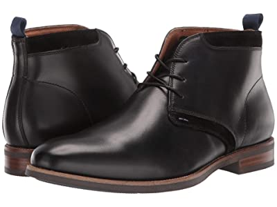 Florsheim Uptown Plain Toe Chukka Boot (Black Leather/Suede) Men