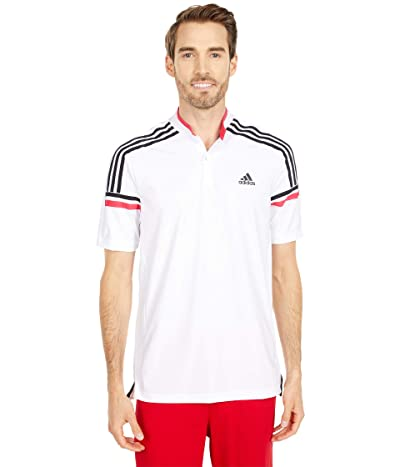 adidas Golf Sport Style Polo (White/Power Pink) Men