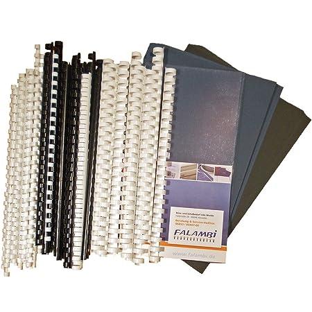 Kit de démarrage pour relieuse en plastique – 155 pièces – Reliure de reliure, couverture de couverture.