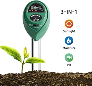 VIVOSUN Soil Tester, 3-in-1 Plant Moisture Meter Light and PH Tester for Home, Garden,..