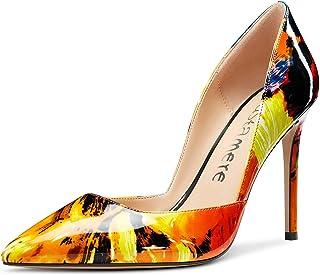 CASTAMERE Escarpins Femme Mode D'Orsay Bout Pointu Aiguille Talon 10CM Heel