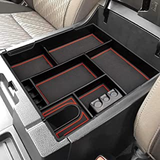 CarQiWireless Center Console Organizer Tray for Toyota Tundra 2014 2015 2016 2017 2017 2018 2019 2020 2021 Tundra Accessories، Armrest Secondary Storage Box - سینی کامل