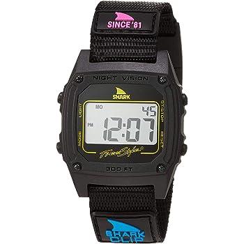 [フリースタイル] 腕時計 SHARK クリップ デジタル 100m防水 ナイロンベルト 復刻カラー 101006 正規輸入品 ブラック