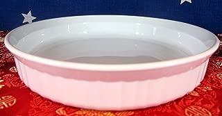 Corning Ware Quiche French White 8 1/2 in Round Tart Plate Pan Pie Baking Dish