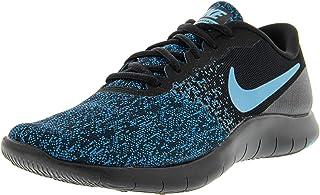 Nike Women's Flex Contact Running Shoe (8, Black/Lagoon Pulse-Green Abyss)