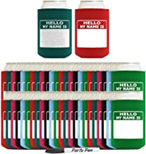 Funny Can Coolie Hello, My Name Is Funny Badge and Permanent Marker Multi Pack Name Tag 96 Pack Can Coolie Drink Coolers Coolies Multi