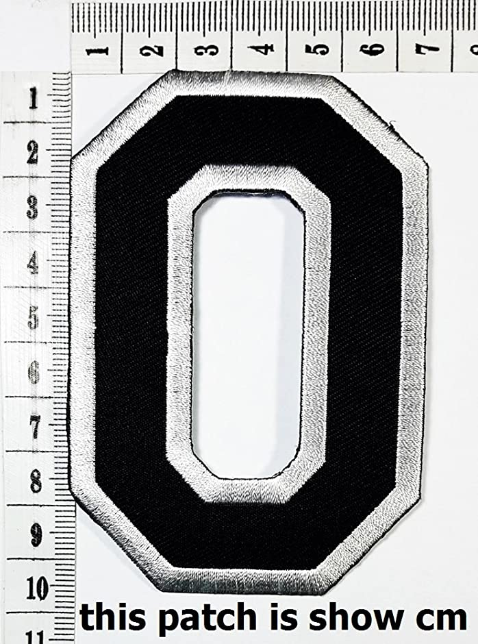 Black Number 0 No 0 math counting no 0 school patch logo Sew On Patch Clothes Bag T-Shirt Jeans Biker Badge Applique