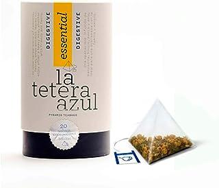 LA TETERA AZUL Infusión Digestiva Premium Con Manzanilla, Menta, Anís E Hinojo. Bote De 20 Pirámides.