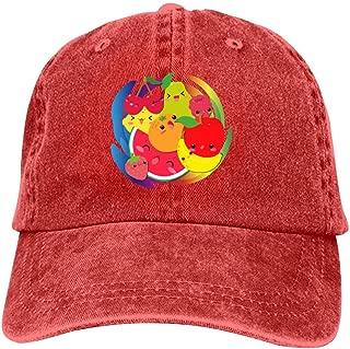 LeoCap Kawaii Fruits Baseball Cap Unisex Washed Cotton Denim Hat Adjustable Caps Cowboy Hats