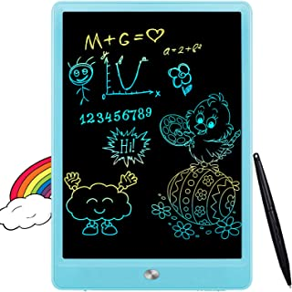 FLUESTON LCD Writing Tablet 10 Inch Drawing Pad, Colorful Screen Doodle Board for Kids,..
