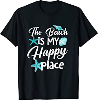 Funny The Beach is my Happy Place Tshirt