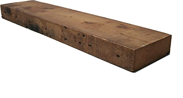 Rustic Barn Beam Mantle Reclaimed Farmhouse Wood Shelf 60 Inch Long