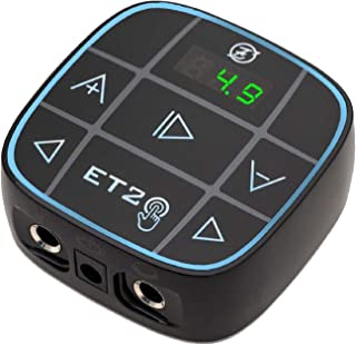 Tattoo Power Supply - EZTAT2 Black Tattoo Digital Power Supply Easy Touch LCD Screen Colorful Voltage for Rotary Pen Tatto...