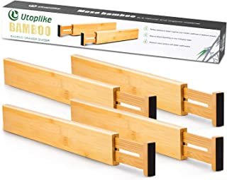 Utoplike Separadores de Cajones de Cocina de Bambú (31.1-43.8 cm) Organizador de Cajones Ajustable Organizador de Cajone...
