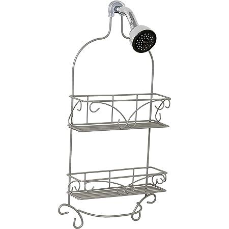 Zenna Home Over-The-Shower Caddy, Satin Nickel
