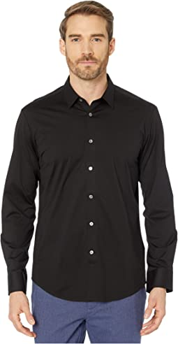 Zanobi Long Sleeve Button-Down with Bonded Seams - French Placket