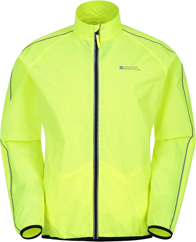 Mountain Warehouse Chaqueta Running Impermeable Force Hombre - Chaqueta Lluvia Unisex, Malla Espalda Aerada -Running & Cycling