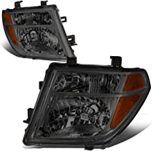 For Nissan Frontier/Pathfinder 2nd Gen D40 Pair of Smoked Housing Amber Corner Headlight Replacement