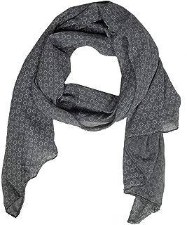 Tuch Schal Cloth Schaltuch Halstuch Schwarz Silbergrau quadratisch 100cmx100cm