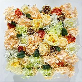LIYONG Panneaux muraux à Fleurs de Soie Rose artificiels Suspendus Ornements Home Lieu de Mariage Floral DIY Art Décoratio...