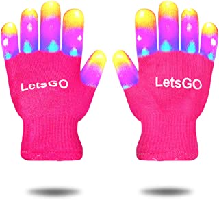 dmazing Flashing LED Light Gloves - Best Gifts for Kids