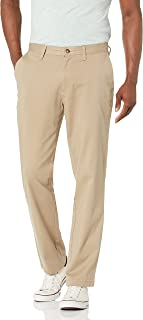 Men's Classic Fit Flat Front Stretch Solid Chino Deck Pant
