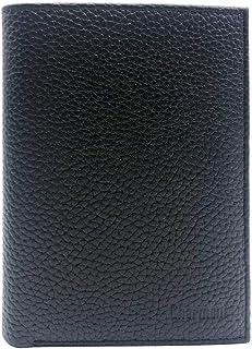 Charmoni Grand Classique Portefeuille en Cuir Protection RFID Blocage Homme (Noir 06 (Cuir grainé))