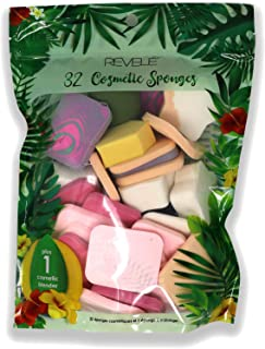 Sponsored Ad - 32 Revele Cosmetic Sponges Plus 1 Revele Beauty Blender, Applying and Removing Makeups, Creams, and Lotions...