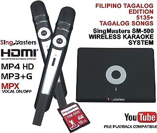 $399 » SingMasters Magic Sing FILIPINO Karaoke Player,5135 Philippines Filipino Tagalog Pinoy Song,12985 English songs Dual wireless Microphones,YouTube Compatible,HDMI,Song recording,TAGALOG Karaoke Machine