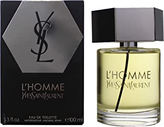 L'HOMME YVES SAINT LAURENT EDT SPRAY, 3.3 Fl Oz, White (3365440316560), 3.4 Ounce