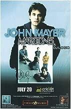 John Mayer Autographed Signed Memorabilia Memorabilia Concert Autographed Signed Memorabilia Tour Poster JSA Authenticity
