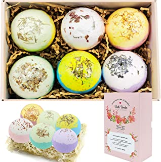 Bath Bombs Ultra Lux Gift Set - 6 XXL All Natural Fizzies with Dead Sea Salt Cocoa and Shea Essential Oils - Best Gift Ide...