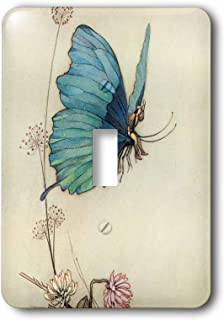 3dRose lsp_110172_1 Fairy in The Garden Vintage Art Light Switch Cover
